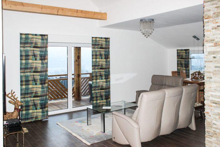 Wohnraum nach Ausbau durch Firma Gipstec in Villach